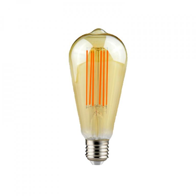 LAMP. FILAMENTO LED AMBAR ST64 7W DIM E27 3000K