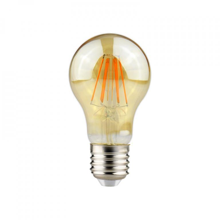 LAMP. FILAMENTO LED AMBAR A60 7W DIM E27 3000K